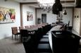 Gecapitonneerde bar en eetkamerstoelen lederlook (Klein)