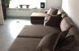 Bankstel met longchair op maat in velours stof design look