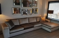 Desgin bank met chaise longue op maat in velours