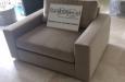 Design fauteuil op maat in velours stof
