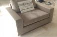 Maatwerk fauteuil in luxe velours stof