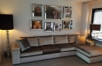 Moderne longchair bank op maat in velours stof