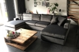 U-bank maatwerk meubelstuk in velours stof
