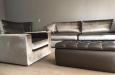 Velours bankstel en fauteuil op maat in luxe stof