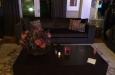 Velours bankstel op maat met hoogglans salontafel