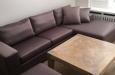 Velours longchair bank in luxe stof