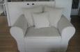 landelijke fauteuil met 3 losse kussens