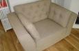 landelijke gecapitonneerde fauteuil zetel