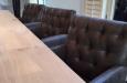 Barstoel op maat met knopen