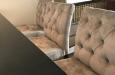 Barstoelen met knopen in velours stof