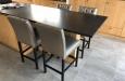 Luxe design barstoelen met skai stof en capitons