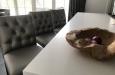 Maatwerk barstoelen in luxe skai stof makkelijk afneembaar