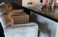 Maatwerk barstoelen in velours stof design look