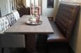 Gecapitonneerde eetkamerbank en stoelen Bram