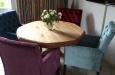 Bram eetkamerstoelen met capitons in fluwele stof
