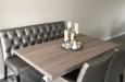 Design eetkamerbank in combinatie met eetkamerstoelen