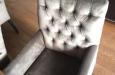 Design gecapitonneerde eetkamerstoelen in velours