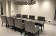 Design stoelen met armleuning in luxe stof