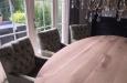 Design stoelen met capitons en luxe velours stoffen