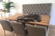 Eetkamerbank en luxe eetkamerstoelen in design stof moderne stoelen