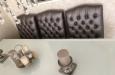 Eetkamerstoel met capitons in luxe skai stof