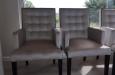 Fluwelen stoelen met carre stiksel in luxe stof