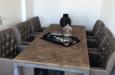 Gecapitonneerde glim eetkamerstoelen luxe stijl