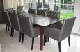 Gecapitonneerde stoelen eetkamerstoelen (2)