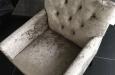 Luxe alligator print velours stoelen met knopen