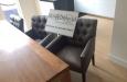 Luxe design stoel met knopen