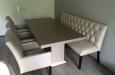 Luxe eethoek op maat met stoelen en eetkamerbank