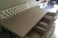 Luxe eetkamerbank met stoelen in skai stof