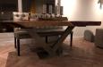 Luxe eetkamerbank op maat met capitons in skai stof
