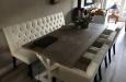 Luxe eetkamerbank op maat met eetkamerstoelen