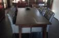Luxe eetkamerstoelen Bram met capitons in skai stof