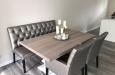 Luxe eetkamerstoelen en eetkamerbank op maat met capitons