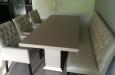 Luxe eetkamerstoelen in Skai stof met knopen