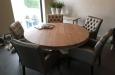 Luxe eetkamerstoelen met capitons in skai stof