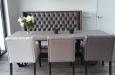 Luxe eetkamerstoelen met eetkamerbank op maat