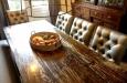 Luxe eetkamerstoelen zonder armleuning met skai stof