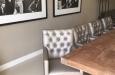 Luxe gecapitonneerde eetkamerstoel met knopen