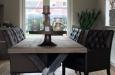 Luxe gecapitonneerde stoelen design skai stof