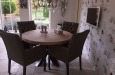 Luxe gecapitonneerde stoelen in skai stof