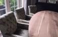 Luxe velours stoelen met capitons