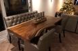 Maatwerk eetkamerbank en luxe stoelen met capitons