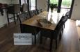 Met capitons uitgevoerde eetkamerstoel in luxe horeca stof