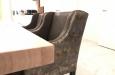 Moderne stoelen in luxe slangenprint stof design