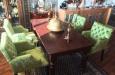 Velours eetkamerstoelen luxe stoelen met knopen