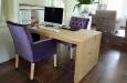 Velours kantoorstoelen met capitons