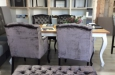 Voetenbank en stoelen velours